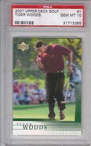 2001 Upper Deck Tiger Woods #1 graded Gem Mint 10 by PSA