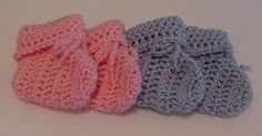 Baby booties - easy crochet pattern