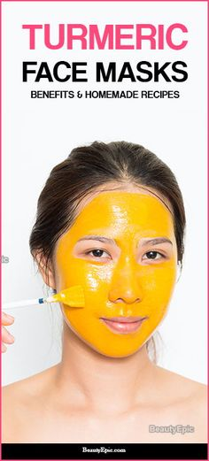 Oily skin is the main reason that causes acne on your face. Using these types of face mask makes your skin oil-free and helps to get rid of acne. Turmeric Face Mask, Turmeric Facial, Brown Spots On Face, Dark Spots, Facial Masks, Diy Face Mask, Oily Skin, Greasy Skin, Beauty Routines