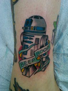 my star wars tattoo, R2D2 is the cutest! done by www.tattoosbysteve.com