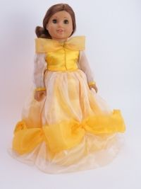 #dollclothes #18inchdollclothes #americangirldoll #americangirlclothes #belle #princess #disneyprincess