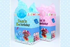 Personalised Blue In The Night Garden Party Loot Bags Iggle piggle Upsy Daisy Garden Birthday, 3rd Birthday, Projects For Kids, Crafts For Kids, Blues In The Night, Night Garden, Garden Show, Personalised Box, Party In A Box