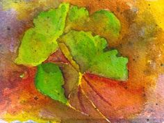 Gingko leaves watercolor