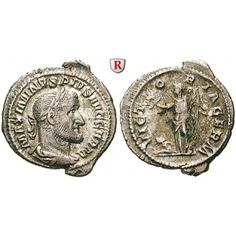 Römische Kaiserzeit, Maximinus I., Denar 236-238, ss: Maximinus I. 235-238. Denar 236-238 Rom. Büste r. mit Lorbeerkranz MAXIMINVS… #coins
