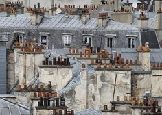 The photographs in the Paris Roof Tops series by Michael Wolf are part of the artist's documentation of