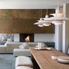 Inspiration deco luminaire Poul Henningsen 💙 #kolectivdesign #vintagefurniture #luminaire #lighting #vintagestyle #annees70