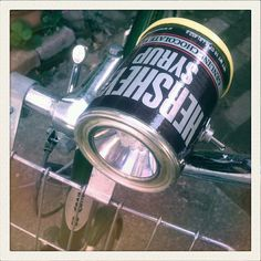 LED soup/food can bike light by ArtLessing on Etsy, $45.00