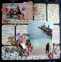 I love the unique design of this layout!                                                        http://aptitude4paper.blogspot.com/2011/05/2-for-2-indeed.html   @Jaclyn Torres #layouts