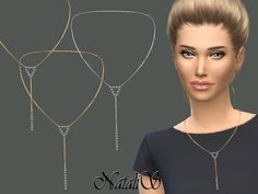 The Sims Resource: Sparkle Y Chain Necklace by NataliS • Sims 4 Downloads