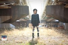 モデル:夢月ゆーり(@_CuLLt) 黒百合タイツ:清原紘(@kiyo_donburi) #セーラー服ファッション