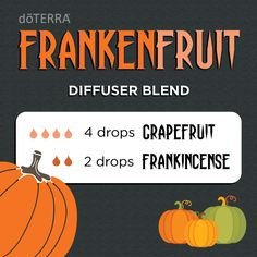 Bring your Halloween party to life by diffusing this blend of spliced Grapefruit…