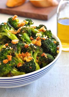 Roasted Broccoli with Parmesan Pangritata (Toasted Breadcrumbs) | RecipeTin Eats