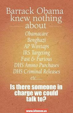 the  know nothing liar in chief - obama - alas, he knows everything about this; just thinks he is getting away with it - NOT