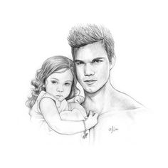 Jacob Black and Renesmee Cullen Photo: Jake & Nessie. Twilight Jacob And Renesmee, Die Twilight Saga, Twilight Quotes, Twilight Book, Twilight Pictures, Vampire Twilight, Styles Teen Wolf, Saga Art, Love Coloring Pages