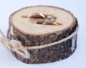 Rustic ring bearer pillow wedding wood slice rustic ring box birch wedding decoration wood wedding decor ring pillow alternative by DINDINTOYS Rustic Wooden Shelves, Rustic Wood Decor, Ring Bearer Pillows, Ring Pillows, Rustic Ring Bearers, Birch Wedding, Wooden Keepsake Box, Wooden Picture, Wedding In The Woods