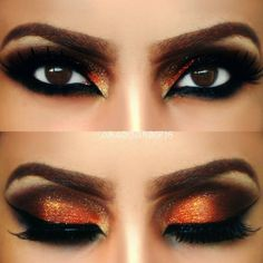 Try on this fiery look on your next night out! This stunning arabic eye makeup will definitely set the house on fire!