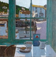 Mike Hall. View of Quay from Cafe