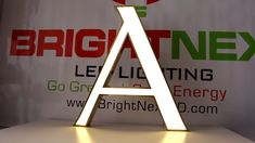 Led Strip Light Application On Channel Letter And Logo Signs, Strip light wholesaler Channel Letters, Light Letters, Logo Sign, Led Signs, Led Strip, Downlights, Strip Lighting, Lettering, Display Wall
