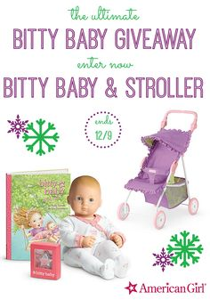 American Girl Bitty Baby and Stroller Giveaway  - http://mylifeandkids.com/american-girl-bitty-baby-and-stroller-giveaway/