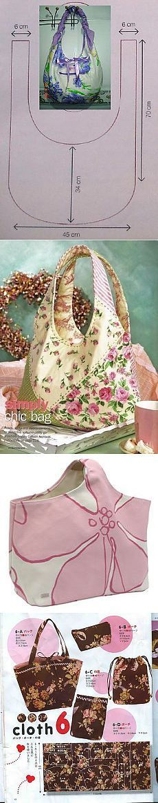 bags Margarita Malanchuk Ideas and instructions for photos for free on the Postile platform Fabric Crafts, Sewing Crafts, Sewing Projects, Patchwork Bags, Quilted Bag, Bag Patterns To Sew, Sewing Patterns, Tote Pattern, My Bags