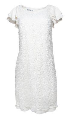 def377bf1f sukienka koktajlowa z koronki gipury biała koronkowa sukienka - styl boho