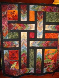 Gorgeous quilts on this site - thousands of them (literally).  This one belongs to Pinner Catie Gynn who commented to me on my post.  Thanks Catie!