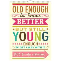Caroline Gardner Say So A3 Family Calendar with Reminder Stickers