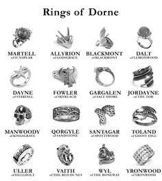 Game of Thrones Rings of Dorne Game Of Thrones Tattoo, Game Of Thrones Funny, Game Of Thrones Dress, Valar Dohaeris, Valar Morghulis, Game Of Thrones Wallpaper, Game Of Thrones Jewelry, Game Of Thrones Accessories, Gaming Tattoo