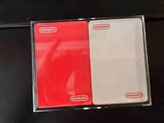Conoco 2 Deck playing cards red white bridge set