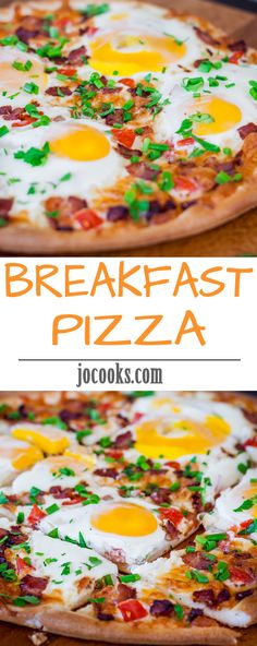 Breakfast Pizza – eggs and bacon on a pizza, what could be better.