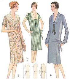 1920 Dress With Front Ties