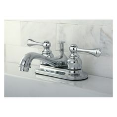 Kingston Brass English Vintage Double Handle Centerset Bathroom Sink Faucet with ABS Pop-Up Drain & Reviews | Wayfair