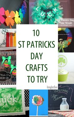 10 St Patricks Day Crafts to Try at www.honeybearlane.com