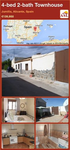 Townhouse for Sale in Jumilla, Alicante, Spain with 4 bedrooms, 2 bathrooms - A Spanish Life Murcia, Valencia, Portugal, Charming House, Alicante Spain, The Deed, Double Bedroom, Maine House, Townhouse