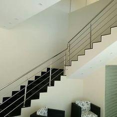 Steel Railing, Modern Stairs, Home Decor, Decoration Home, Room Decor, Interior Design, Home Interiors, Interior Decorating