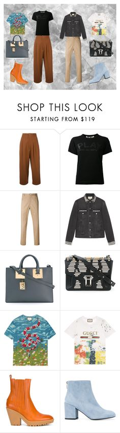 """""""Grab these"""" by monica022 ❤ liked on Polyvore featuring Yohji Yamamoto, Thom Browne, Gucci, Sophie Hulme, Proenza Schouler, Maison Margiela and Stuart Weitzman"""