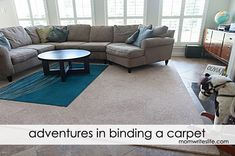 Adventures in Binding a Carpet Remnant/Rug