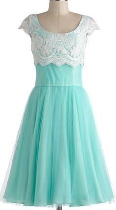 Sweet dress in aqua with white lace http://rstyle.me/n/est7znyg6