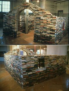 link takes you to 10 gorgeous structures made from books!
