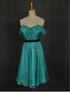 Knee Length Sweetheart Hunter Bridesmaid Dress