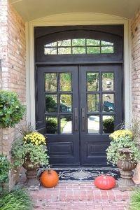 Black Single Front Doors my new front door. love the black. need to get a wreath on it