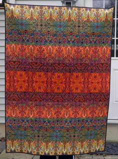 """BuzzinBumble: Strange Magic H2H Quilt made with Paula Nadelstern's Palindrome fabrics and inspired by her """"Lines"""" quilt."""