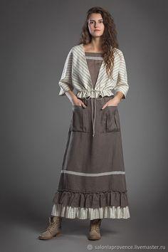 Костюмы ручной работы. Ярмарка Мастеров - ручная работа. Купить Комплект жакет в полоску , маечка и юбка с полосатой оборкой. Handmade.
