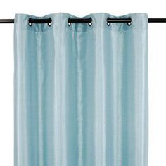 """Set of two silk-inspired curtain panels with grommet tops.   Product: Set of 2 curtain panels Construction Material: 100% PolyesterColor: AquariumFeatures:  Pleating details on topHung with decorative grommetsGrommets have 1.5"""" diameter each Dimensions: 88"""" H x 56"""" W each Cleaning and Care: Machine wash in cold water.  Do not bleach.  Tumble dry on a delicate setting.  Iron on low heat if necessary."""