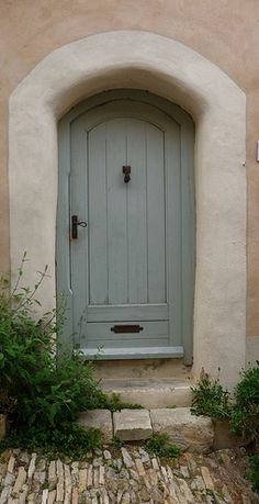 duck egg blue. I love doors....you never know where they lead till you take a step through.....