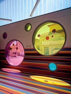 *버블버블 유치원 [ LosdelDesierto Architecture ] Kindergarten in Velez-Rubio Kindergarten Interior, Kindergarten Design, Colour Architecture, School Architecture, Education Architecture, Nursery School, Nursery Design, Kid Spaces, Kids Decor