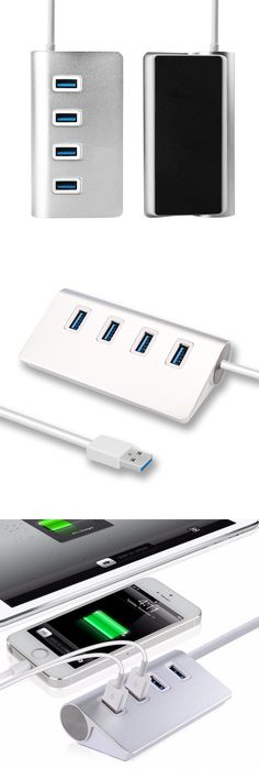 Aluminum alloy USB 3.0 ramp hub computer 4 ports multi-interface splitter one to four