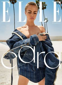 Model, actress and author Cara Delevingne appear in ELLE UK September 2017 issue. Cara models new-look for 3 covers. On the one cover, Poppy Delevingne, Delevigne Cara, Fashion Magazine Cover, Fashion Cover, Look Fashion, Trendy Fashion, Fashion Model Poses, Fashion Models, Alexa Chung