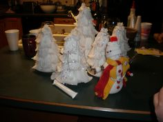 strange and weird christmas crafts.........:) tampon trees