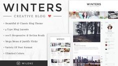 Winters - A Responsive  Wordpress Blog Theme - Personal Blog / Magazine